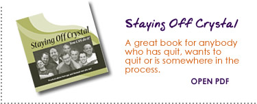 click to read Staying Off Crystal booklet